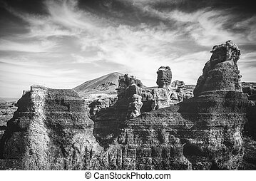 rocks in canyon