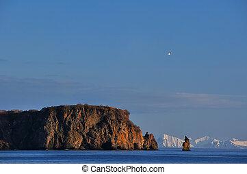 Rocks in sea in Russia