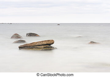 Rocks in sea