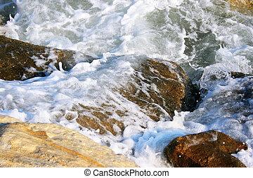 Rocks in sea water
