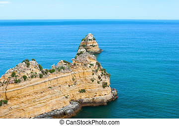 Rocks in the Atlantic ocean; Portugal