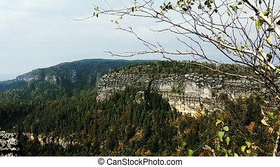 Rocks in the Czech Switzerland. Czech Republic.