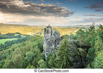 Rocks in the Elbe Sandstone Mountains