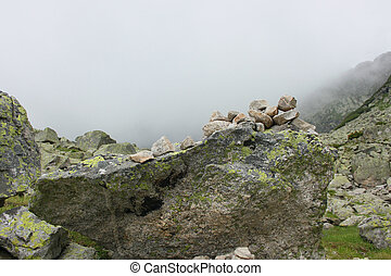 Rocks in the mountain