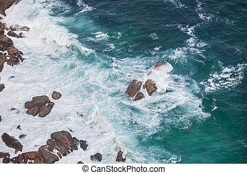 Rocks in the ocean