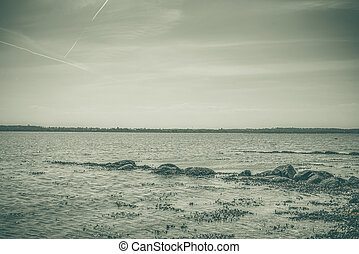 Rocks in the sea by the shore