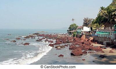Rocks in the sea near Arambol beach