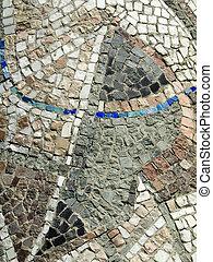 Little rocks mosaic closeup