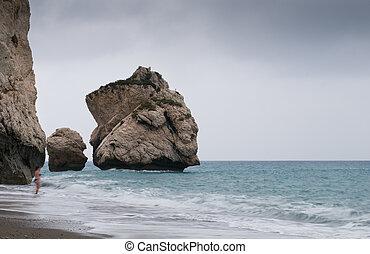 Rocks of Aphrodite beach