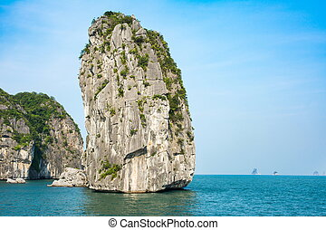 Rocks of Halong bay in Vietnam
