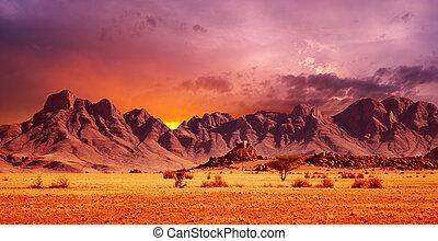 Namib Desert - Rocks of Namib Desert, Namibia