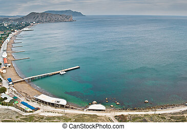 Rocks of the Black Sea coast. Crimea. Sudak.