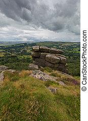Rocks on a Hill at Froggatt Edge