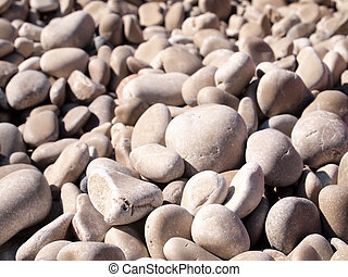 Rocks on beach background