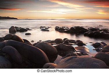 Rocks on the beach - Hallet Cove beach Adelaide, South ...