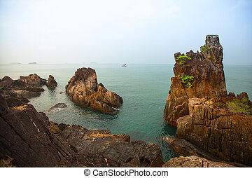 Rocks on the coast of the Gulf of Thailand