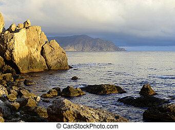 Rocks on the sea coast
