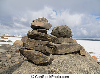 rocks on the shore of Lake