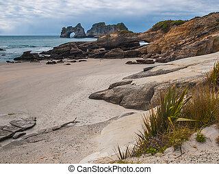 Rocks on Wharariki Beach