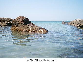 Rocks at the ocean