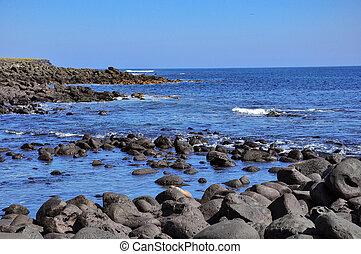 rocks, sea and sun