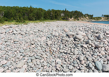 Rocks smoothed by the ocean