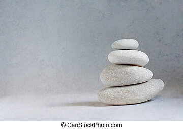 Rocks stacked one top of another is an art form..