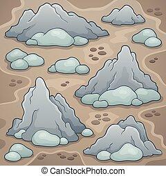 Rocks thematic image illustration.