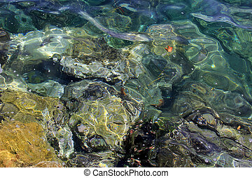 Rocks under sea water