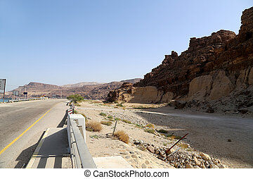 Rocks Wadi Mujib -- national park located in area of Dead...