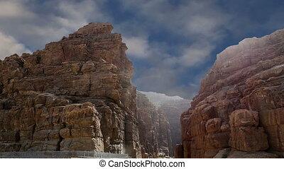 Rocks Wadi Mujib -- national park