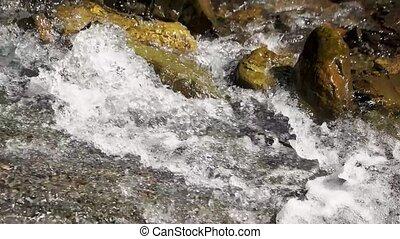 rocks., wasser, spritzen, wasserfall
