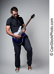 Rockstar playing solo