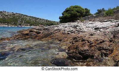 Adriatic coast in Croatia - Rocky Adriatic coast in Croatia