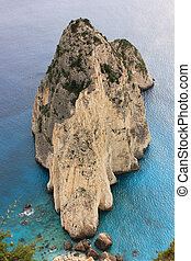Rocky bay, Greece, Ionian coast - Mizitres rocks detail,...