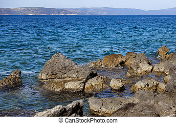 Rocky bay in the Adriatic sea in Croatia