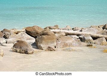 Rocky beach in Antigua, Caribbean