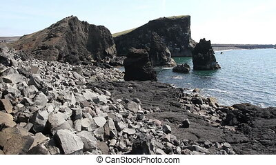 Rocky beach in Iceland