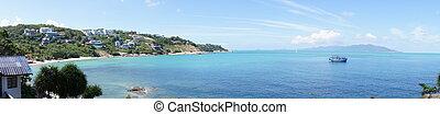 Rocky beach in Koh Samui, Thailand - The rocky landscape on...