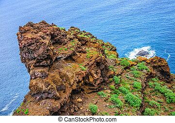 Rocky beach in Tenerife, Canary Islands