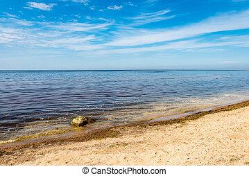 rocky beach in the baltic sea