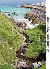 Rocky beach on Isle of Harris