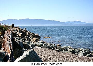 Rocky beach along Puget Sound