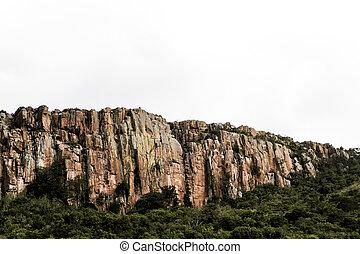 A rocky hillside in South Africa