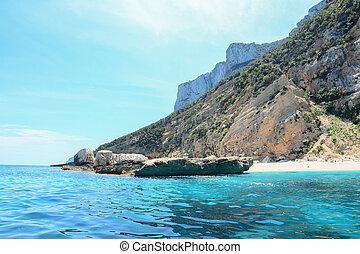 rocky cliff in Orosei Gulf, Sardinia