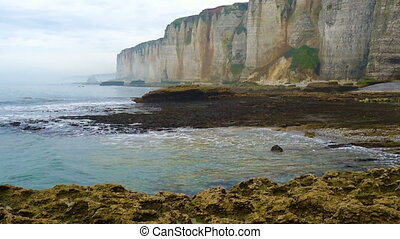 rocky cliffs and the sea