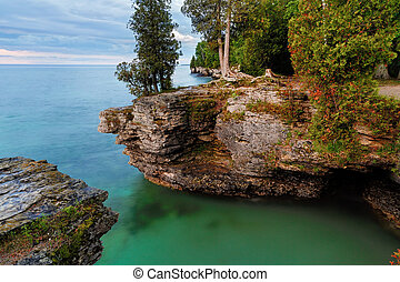 Rocky Cliffs at Cave Point