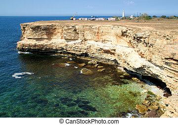Rocky cliffs, the Black Sea coast