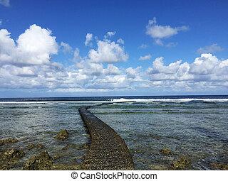 Rocky Coast along the Pacific Ocean, Kenting, Taiwan -...