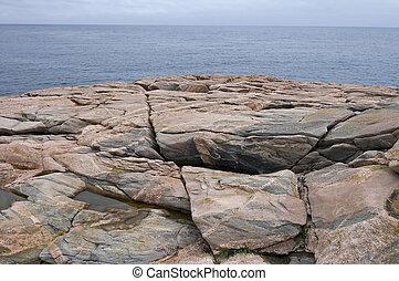 Rocky Coast at Green Cove, Cape Breton Highlands Nat Park, Nova Scotia, Canada